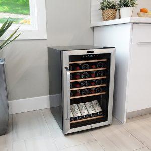 Whynter FWC-341TS 34 Bottle Freestanding Wine Refrigerator