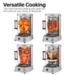 Flexzion Vertical Tower Rotating Rotisserie