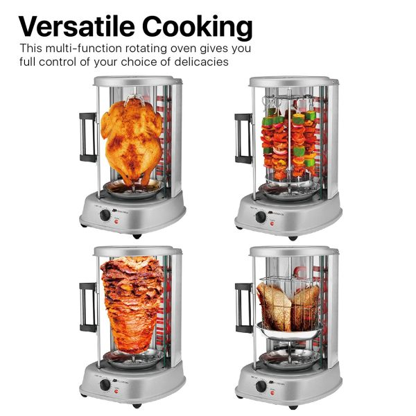 Flexzion Vertical Tower Rotating Rotisserie Oven Grill