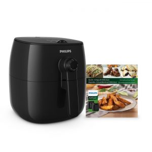 Philips TurboStar Airfryer, The Original Airfryer with Bonus 150 Recipe Cookbook