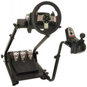 Conquer Racing Simulator Cockpit Driving Gaming Wheel Stand
