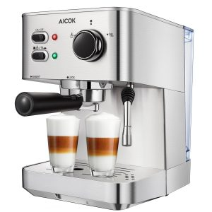 Aicok Espresso Machine, Cappuccino and Latte Coffee Maker