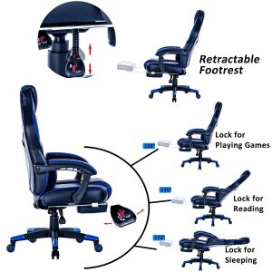Killabee Reclining Racing Gaming Office Chair