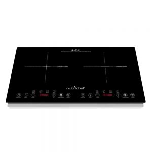 NutriChef Portable Dual 120V Electric Induction Cooker Cooktop