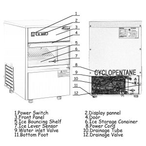 COSTWAY Stainless Steel Commercial Ice Maker