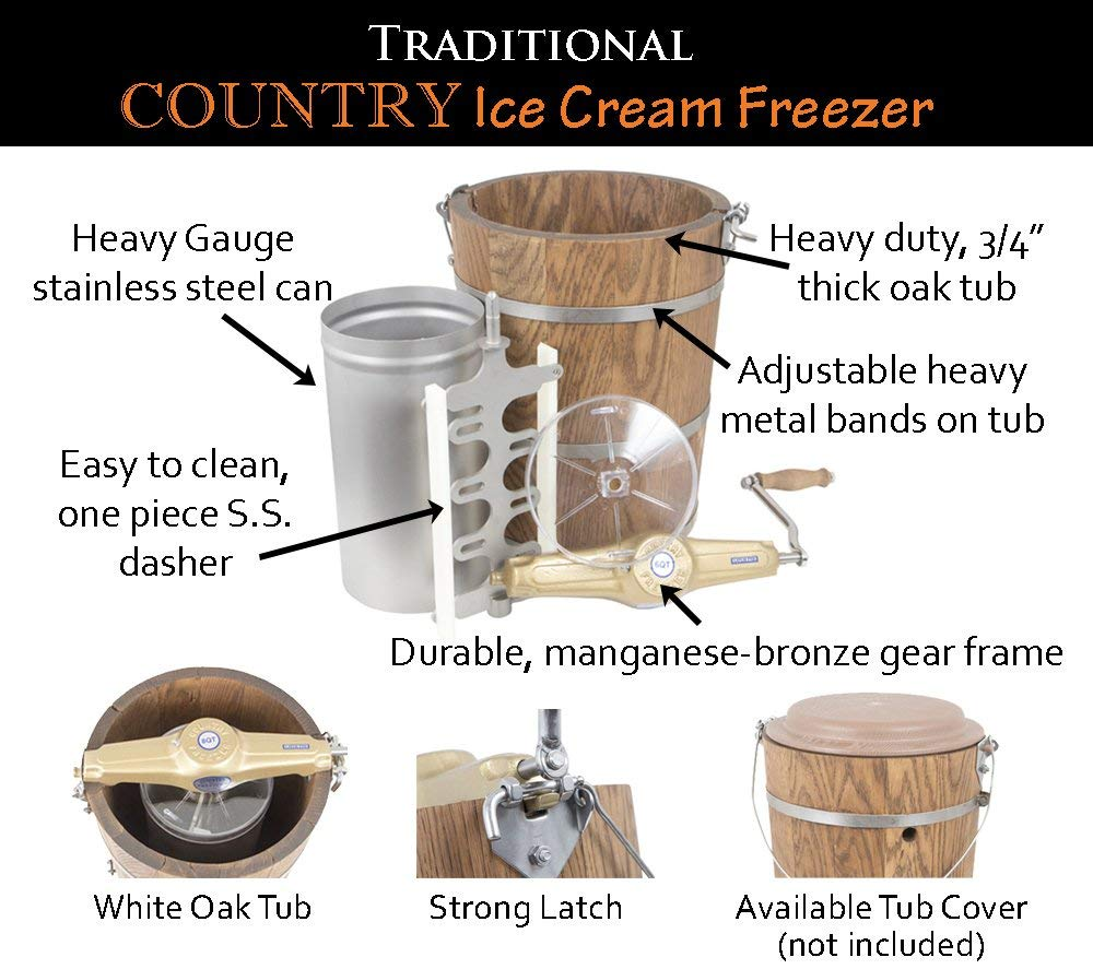 Country Freezer Co. 6 qt Country Ice Cream Churn