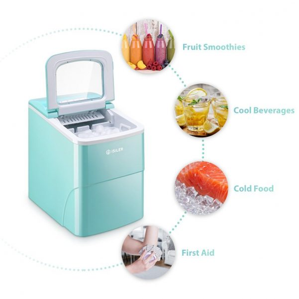 iSiLER Counter Top Ice Maker Machine