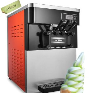Happybuy Soft Ice Cream Machine Commercial 3 Flavors 2200W