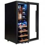 AKDY 16 Bottle Touch Panel Dual Zone Wine Fridge