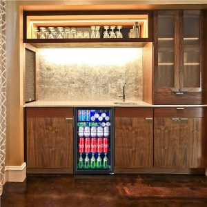 Costway 120 Can Beverage Fridge