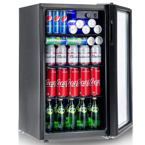 Costway 120 Can Beverage Refrigerator