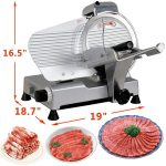 Super Deal Commercial Stainless Steel Semi-Auto Slicer