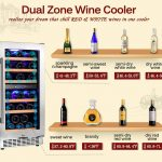 Aobosi 15'-inch Dual Zone Wine Cooler 30 Bottle