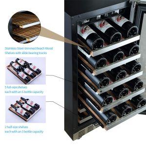 Aokinle 15 inch Wine Cooler 31 Bottle