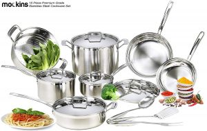 mockins 15 Piece Premium Grade Stainless Steel