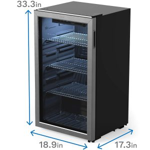hOmeLabs 120 Can Beverage Refrigerator Dimensions