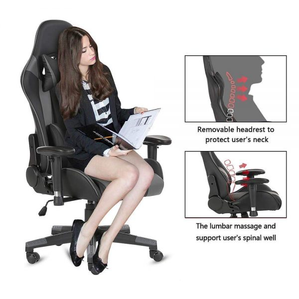 AwaReviver Computer Desk Racing Gaming Chair