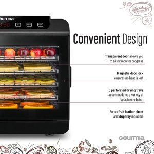 Gourmia GFD1680 Premium Countertop Food Dehydrator Features