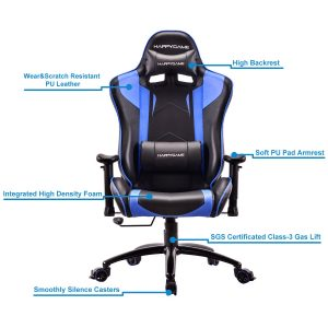 HAPPYGAME Racing Gaming Chair Oversized High-Back Ergonomic Computer Desk Office Chair Features