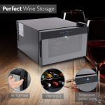 NutriChef PKTEWC806 8-Bottle Electric Compact Wine Cooler