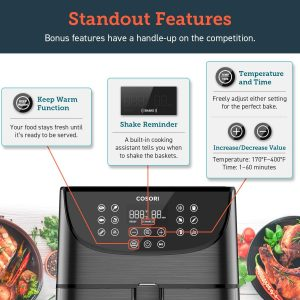 COSORI 5.8 Qt Hot Air Fryer Oven