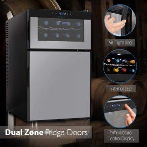 NutriChef PKTEWBC240 Wine Cooler and Mini Fridge Features