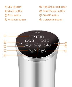 JEFAL Sous Vide Circulator 1000W LCD Display