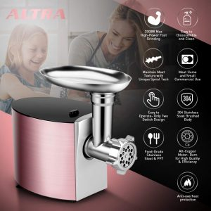 ALTRA 2000W Electric Meat Grinder Sausage Stuffer