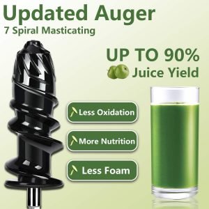 AMZCHEF Slow Masticating Juicer Extractor Updated Auger