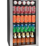 Igloo IBC35SS 135-Can Stainless Steel Glass Door Beverage Center