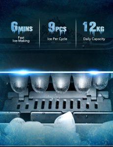 TOPELEK Countertop Ice Maker