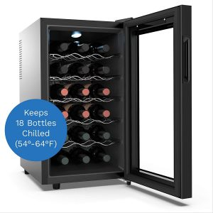 hOmelabs 18 Bottle Wine Cooler Interior Shelves