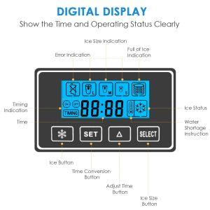 Aicok Portable Countertop Ice Maker DigitaL Display