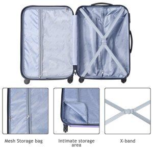 auag amooly abs luggage set