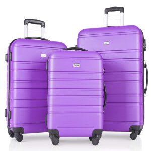 showkoo auag 3 piece luggage set