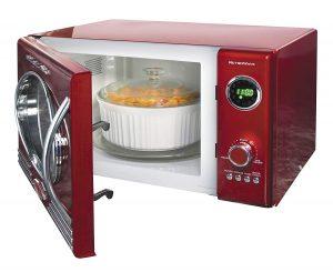 Nostalgia RMO4RR Microwave Oven Retro Red