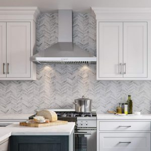 CAVALIERE Range Hood 30-Inch Wall Mount Stainless Steel Kitchen Exhaust Vent