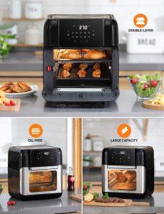 Innsky Air Fryer Oven 10.6qt 1500-watt air fryer