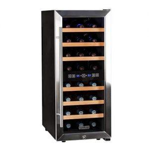 Koldfront TWR247ESS 24 Bottle Free Standing Dual Zone Wine Cooler