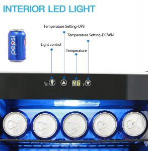 bossin ba-90 beverage cooler temp display