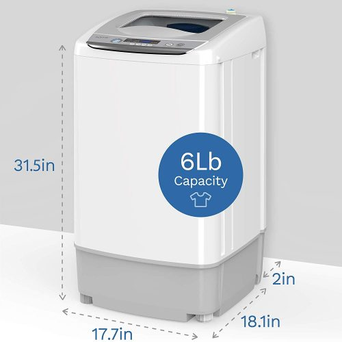 hOmeLabs 0.9 Cu. Ft. 9 Pound Capacity Portable Top Loading Washing Machine