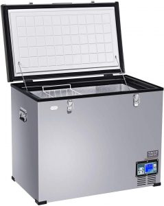 COSTWAY Chest Freezer, 121-Quart Compressor