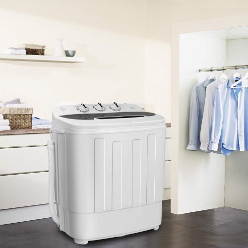 SUPER DEAL Portable Compact Mini Twin Tub Washing Machine