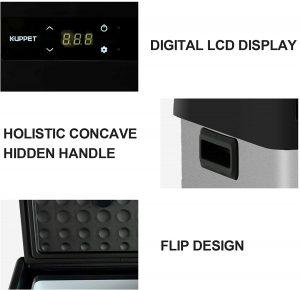 KUPPET Portable Refrigerator Freezer 16Qt LCD Display