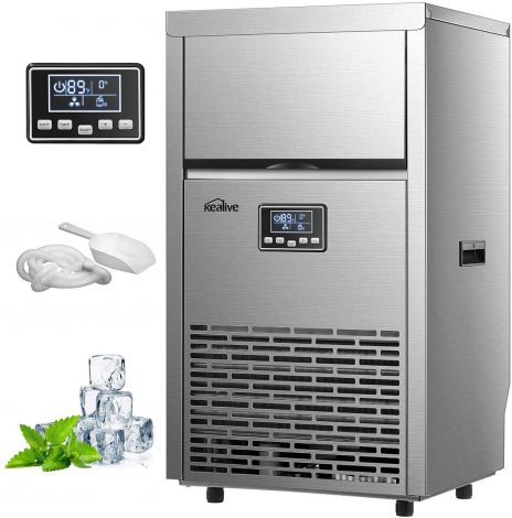 Silver Kealive 45S Commercial Ice Maker, Auto Clean, 99lb. in 24h with 33lb. Storage Review