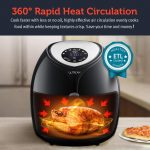 Ultrean 8.5 Quart Air Fryer Rapid Heat Circulation