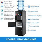 VBENLEM 2 in 1 Black Water Dispenser Cooler