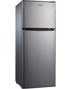 4.6 Cubic Foot 2 Door Stainless Steel Look Refrigerator