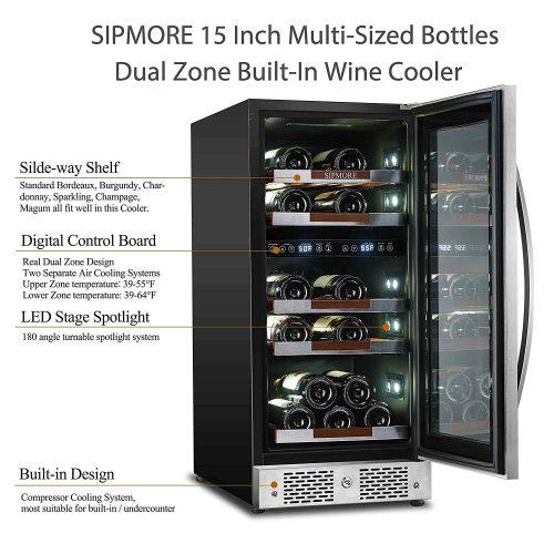 Sipmore 15 Wine Refrigerator Cooler