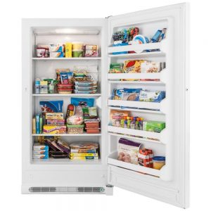 White Frigidaire 17.4 Cu. Ft. Upright Freezer